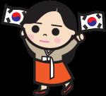 Korea-Flags-girl