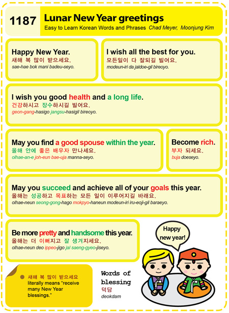 1187 lunar new year greetings easy to learn korean etlk 1187 lunar new year greetings m4hsunfo