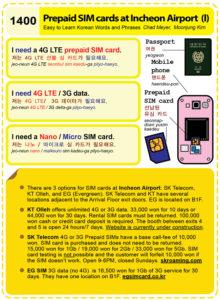 1400-Prepaid SIM card at Incheon 2