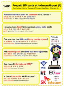1401-Prepaid SIM card at Incheon 1